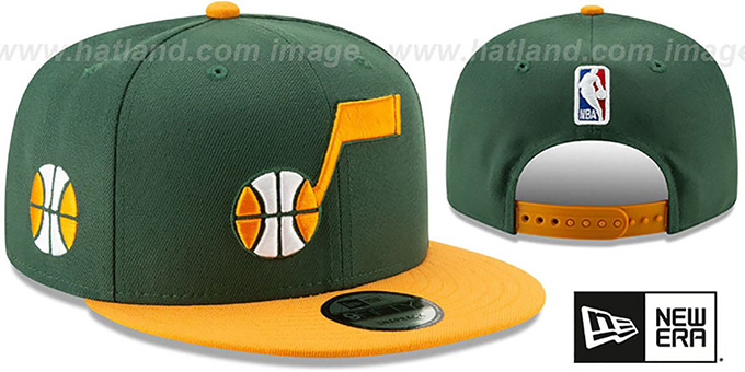 Jazz '18-19 CITY-SERIES SNAPBACK' Green-Gold Hat by New Era