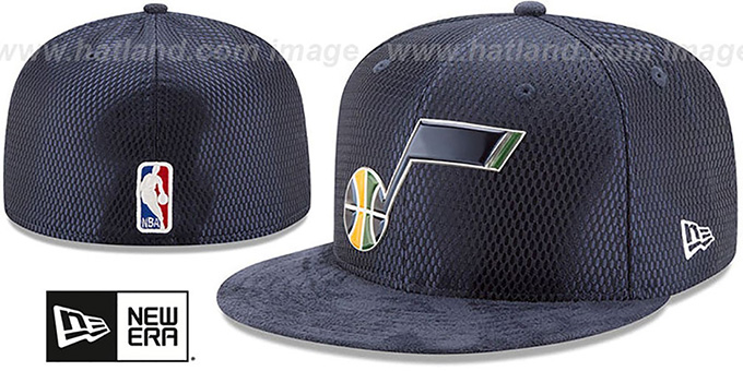 f07257010f9 ... New Era. Jazz '2017 ONCOURT DRAFT' Navy Fitted Hat by ...