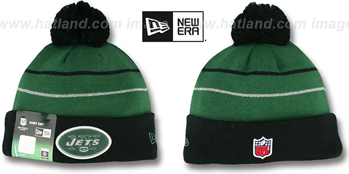 Jets 'THANKSGIVING DAY' Knit Beanie Hat by New Era : pictured without stickers that these products are shipped with
