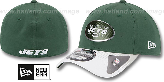 Jets '2015 NFL DRAFT FLEX'  Hat by New Era : pictured without stickers that these products are shipped with