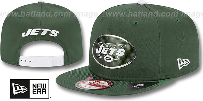 Jets '2015 NFL DRAFT SNAPBACK' Green Hat by New Era : pictured without stickers that these products are shipped with