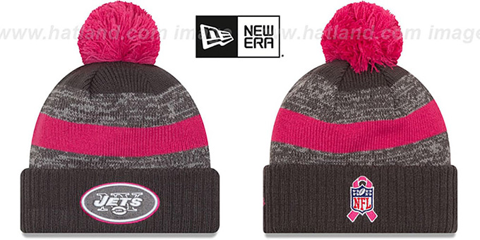 Jets '2016 BCA STADIUM' Knit Beanie Hat by New Era : pictured without stickers that these products are shipped with