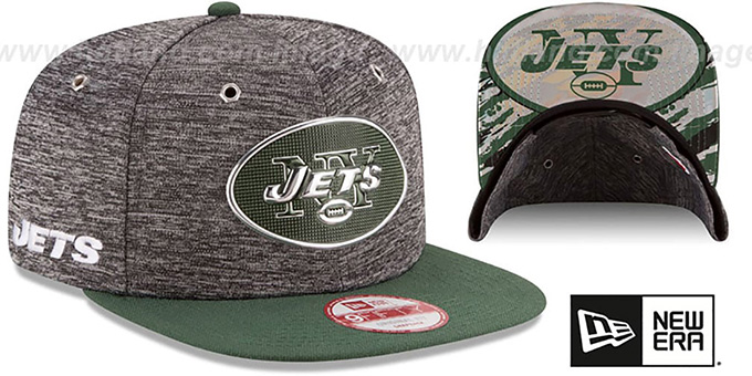 Jets '2016 NFL DRAFT SNAPBACK' Hat by New Era : pictured without stickers that these products are shipped with