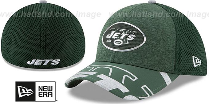 6213c7ef605 New York Jets 2017 NFL ONSTAGE FLEX Hat by New Era