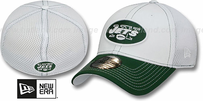 Jets 'BLITZ NEO FLEX' Hat by New Era : pictured without stickers that these products are shipped with