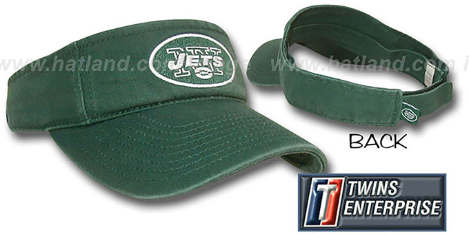 Jets 'G-W VISOR' by Twins - dark green : pictured without stickers that these products are shipped with