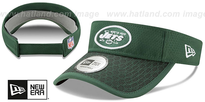 Jets 'HONEYCOMB STADIUM VISOR' Green by New Era : pictured without stickers that these products are shipped with