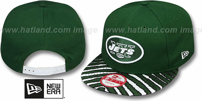 Jets 'NFL ZUBAZ SNAPBACK' Green Hat by New Era : pictured without stickers that these products are shipped with