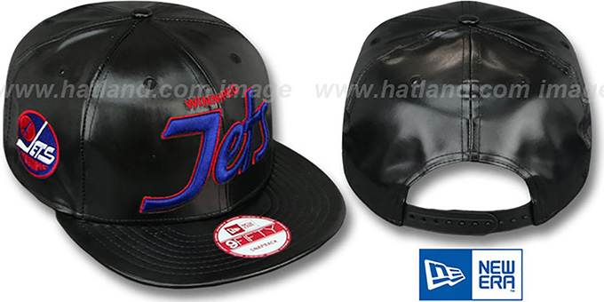Jets 'REDUX SNAPBACK' Black Hat by New Era : pictured without stickers that these products are shipped with