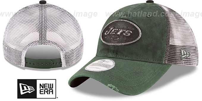 Jets 'RUSTIC TRUCKER SNAPBACK' Hat by New Era : pictured without stickers that these products are shipped with