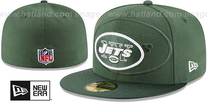 08cf6be3ae0 New York Jets STADIUM SHADOW Green Fitted Hat by New Era