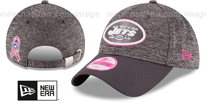 Jets 'WOMENS 2016 BCA STRAPBACK' Grey-Grey Hat by New Era : pictured without stickers that these products are shipped with