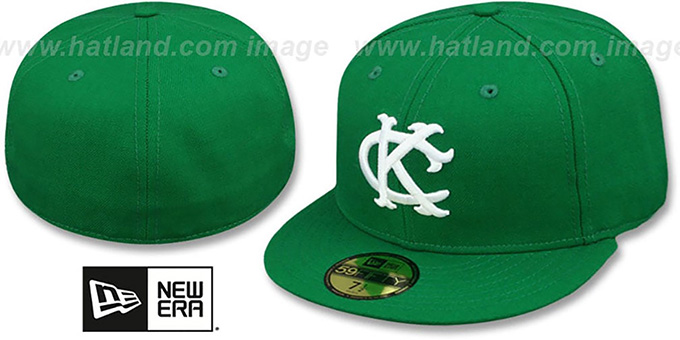 KC Athletics '1963-67 COOPERSTOWN' Fitted Hat by New Era : pictured without stickers that these products are shipped with