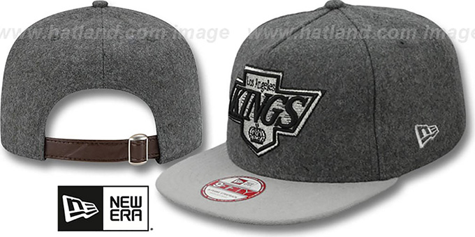 Kings '2T MELTON A-FRAME STRAPBACK' Hat by New Era : pictured without stickers that these products are shipped with