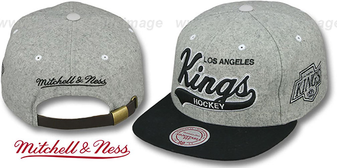 Kings '2T TAILSWEEPER STRAPBACK' Grey-Black Hat by Mitchell & Ness : pictured without stickers that these products are shipped with