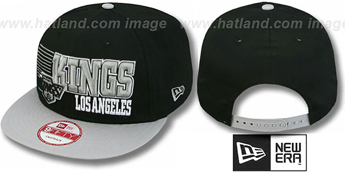 Kings '2T VINTAGE BORDERLINE SNAPBACK' Black-Grey Hat by New Era : pictured without stickers that these products are shipped with