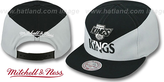 Kings 'AMPLIFY DIAMOND SNAPBACK' Black-Grey Hat by Mitchell and Ness : pictured without stickers that these products are shipped with