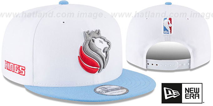Kings 'CITY-SERIES SNAPBACK' White-Sky Hat by New Era : pictured without stickers that these products are shipped with