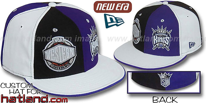 Kings CONFERENCE 'DOUBLE WHAMMY' Fitted Hat by New Era