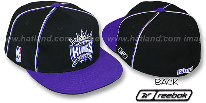 Kings 'CROSS TAPED' Fitted Hat by Reebok : pictured without stickers that these products are shipped with