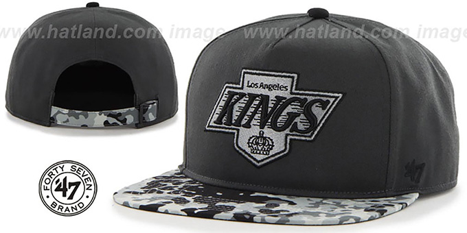 Kings 'DRYTOP STRAPBACK' Grey Hat by Twins 47 Brand : pictured without stickers that these products are shipped with