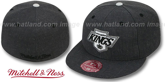 Kings 'GREY HEDGEHOG' Fitted Hat by Mitchell & Ness : pictured without stickers that these products are shipped with