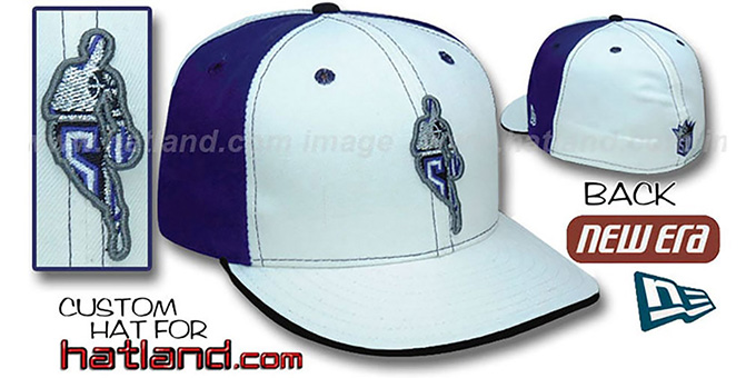 Kings 'INSIDER PINWHEEL' White-Purple Fitted Hat by New Era