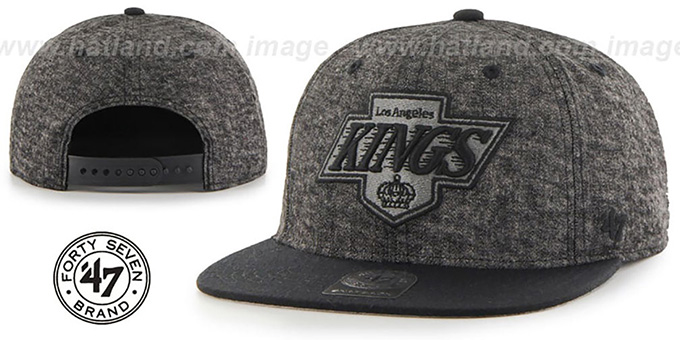 Kings 'LEDGEBROOK SNAPBACK' Black Hat by Twins 47 Brand : pictured without stickers that these products are shipped with
