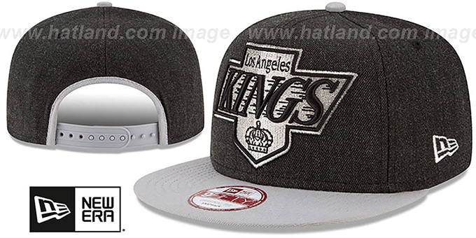 Kings 'LOGO GRAND SNAPBACK' Charcoal-Grey Hat by New Era : pictured without stickers that these products are shipped with