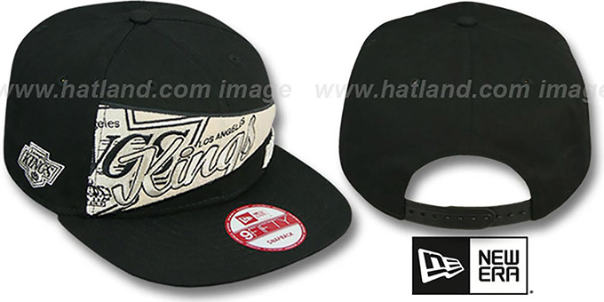 Kings 'PENNANT SNAPBACK' Black Hat by New Era : pictured without stickers that these products are shipped with