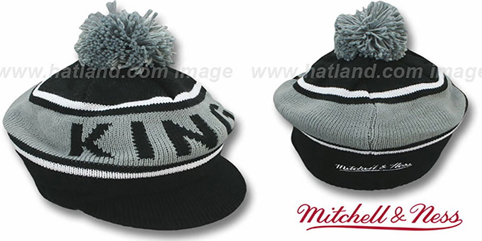 Kings 'RERUN KNIT BEANIE' by Mitchell and Ness : pictured without stickers that these products are shipped with