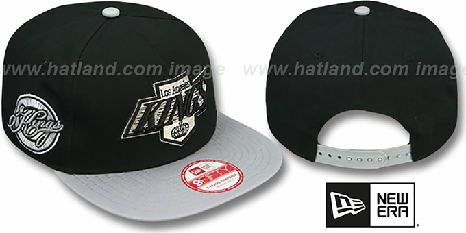 Kings 'SAID SNAPBACK' Black-Grey Hat by New Era : pictured without stickers that these products are shipped with