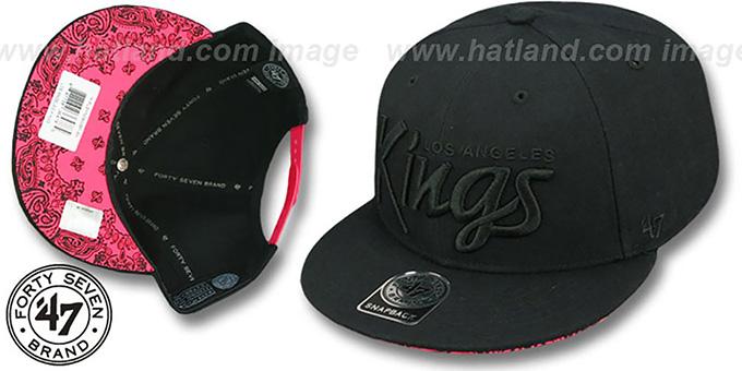 Kings  SCRIPT PAISLEY SNAPBACK  Black-Black Hat by Twins ... e542f979e46