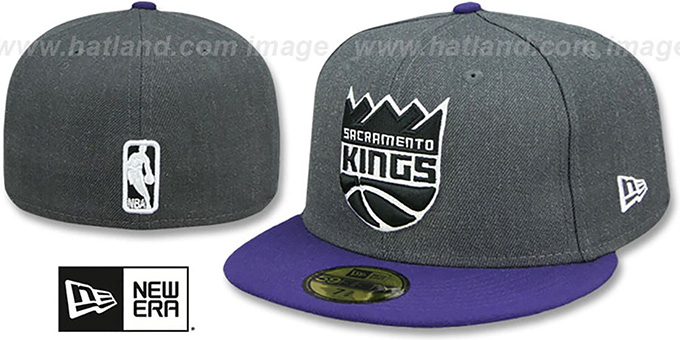 815ba6339773 Kings  SHADER MELT-2  Grey-Purple Fitted Hat by New Era