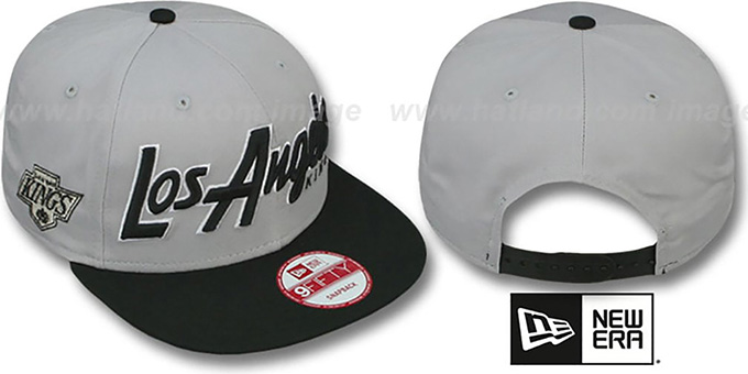 Kings 'SNAP-IT-BACK SNAPBACK' Grey-Black Hat by New Era : pictured without stickers that these products are shipped with