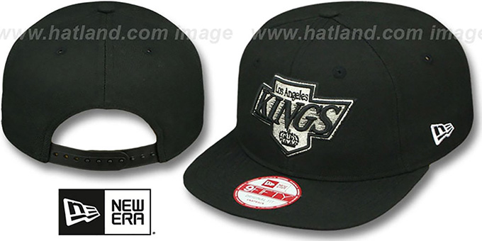 Kings 'TEAM-LOGO SOCAL SNAPBACK' Black Hat by New Era : pictured without stickers that these products are shipped with