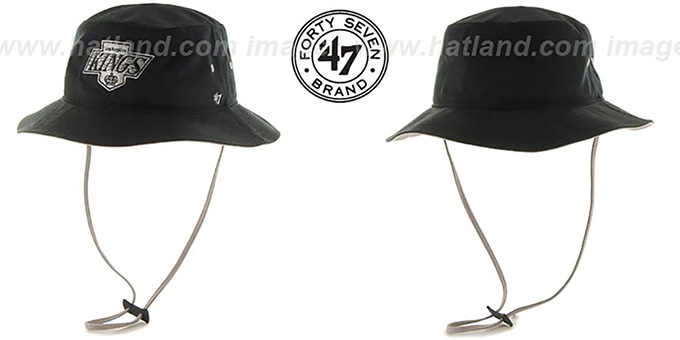 Kings 'VINTAGE KIRBY BUCKET' Black Hat by Twins 47 Brand : pictured without stickers that these products are shipped with
