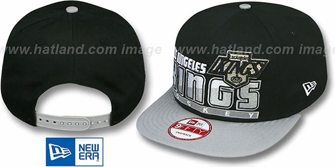 Kings 'VINTAGE SLICE-N-DICE SNAPBACK' Black-Grey Hat by New Era : pictured without stickers that these products are shipped with