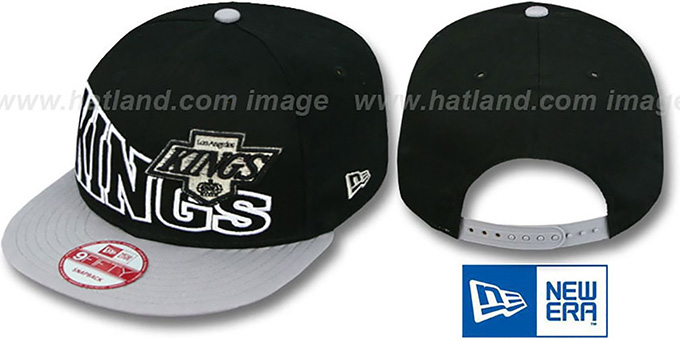 Kings 'VINTAGE STOKED SNAPBACK' Black-Grey Hat by New Era : pictured without stickers that these products are shipped with