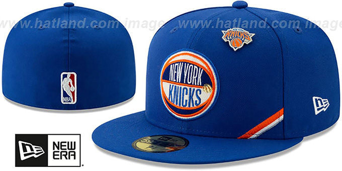 online store 6945d 0014b Knicks  2019 NBA DRAFT  Royal Fitted Hat by New Era