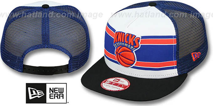 Knicks 'BAND-SLAP SNAPBACK' Hat by New Era : pictured without stickers that these products are shipped with