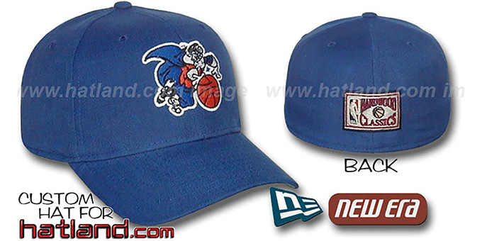 Knicks 'BASIC HARDWOOD' Fitted Hat by New Era - royal : pictured without stickers that these products are shipped with