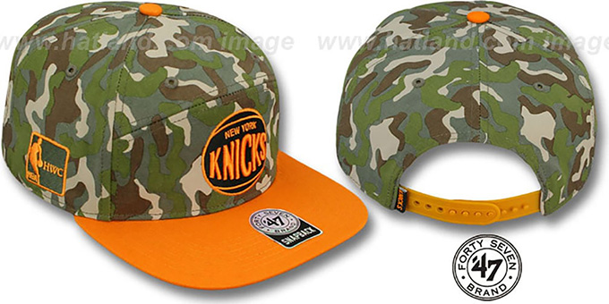 Knicks 'CHENY CAMPER STRAPBACK' Hat by Twins 47 Brand : pictured without stickers that these products are shipped with
