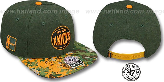 Knicks 'COLONEL POTTER' Adjustable Hat by Twins 47 Brand : pictured without stickers that these products are shipped with