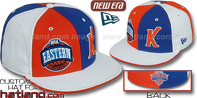 Knicks CONFERENCE 'DOUBLE WHAMMY' Fitted Hat by New Era : pictured without stickers that these products are shipped with