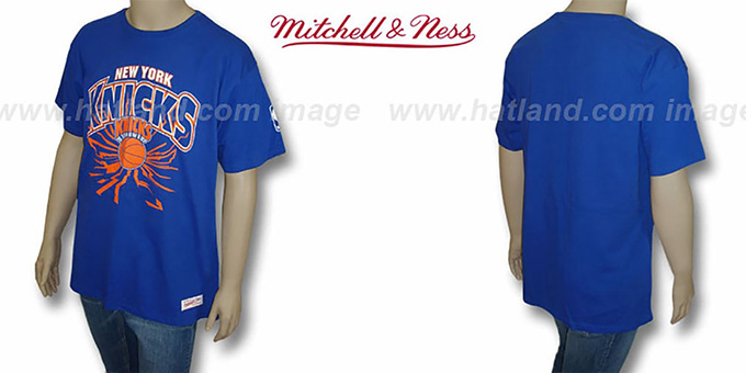 Knicks 'EARTHQUAKE' Royal T-Shirt by Mitchell & Ness