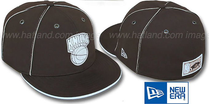 Knicks 'HW CHOCOLATE DaBu' Fitted Hat by New Era : pictured without stickers that these products are shipped with