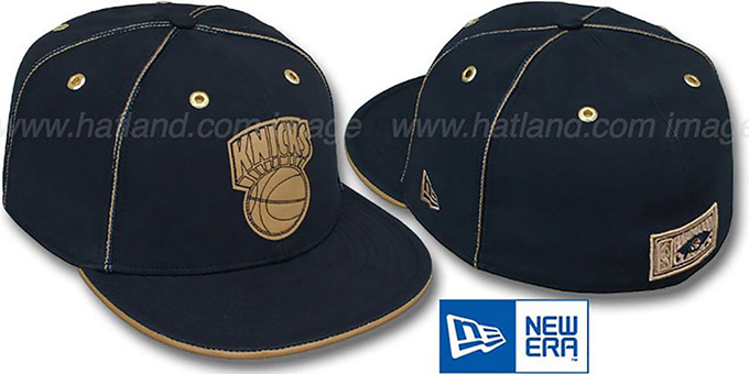 Knicks 'HW NAVY DaBu' Fitted Hat by New Era : pictured without stickers that these products are shipped with