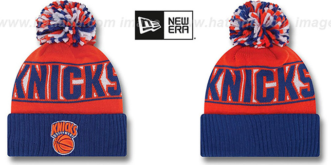 Knicks HWC 'REP-UR-TEAM' Knit Beanie Hat by New Era : pictured without stickers that these products are shipped with