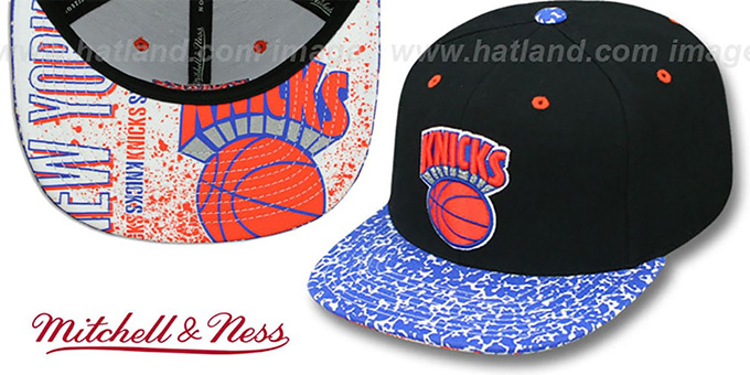 Knicks 'IN-THE-STANDS SNAPBACK' Hat by Mitchell & Ness : pictured without stickers that these products are shipped with